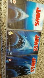 Jaws 1 2 and 3 DVDs