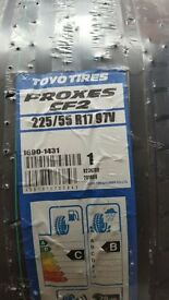 NEW Two Toyo Tires tyres - 225/55/ R17 - £130 ONO