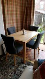 Dining table and 4 upholstery chairs