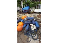 Bouys and boat slings boat fenders
