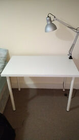White Desk and work lamp