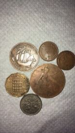 6 different old coins - feel free to check my other items - bargain