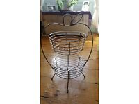 Stainless steel Two Tiered Retro Fruit Bowl
