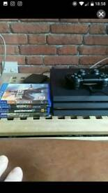 PS 4 Pro 1TB Boxed w/ 4 Games for swaps