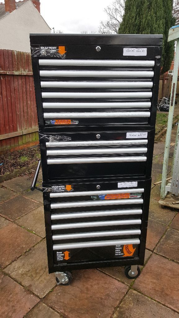 Halfords Industrial 15 Drawer Tool Chest Cabinet Box
