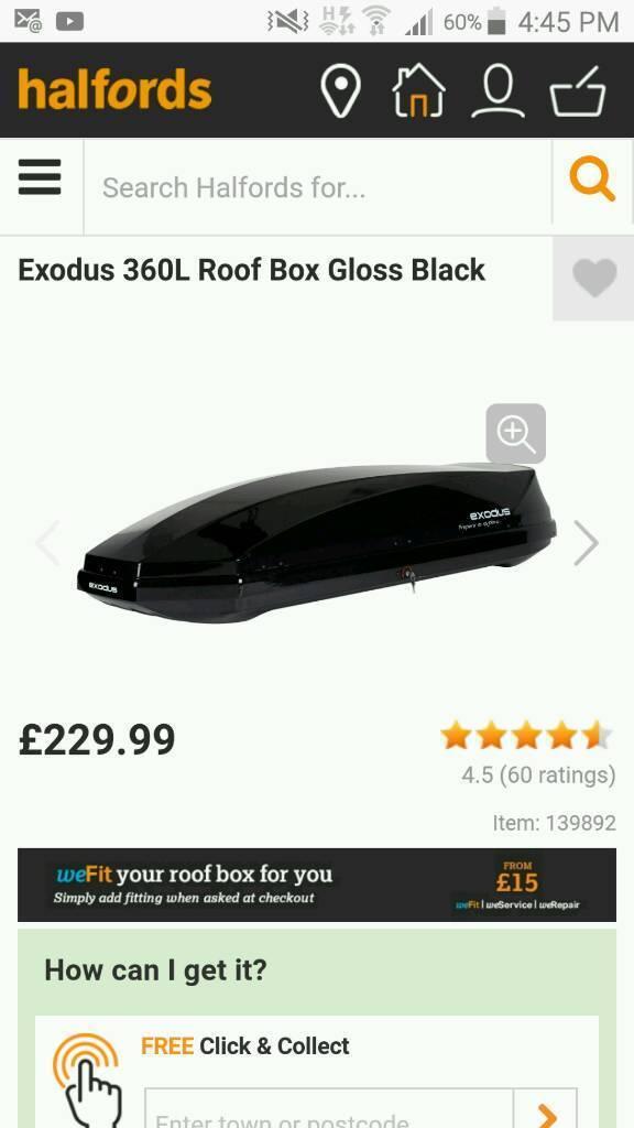 Roof box 360l