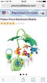 Fisher price rainforest mobile