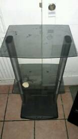 Glass tv standing table