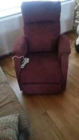 Pride red riser and recliner. Great condition.