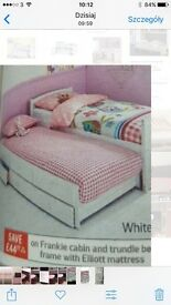 Childrens single bed with trundle bed frame
