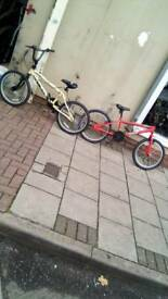 4 Fully Working Bmx's At Bargain Prices