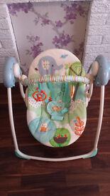Brightstarts truspeed baby swing