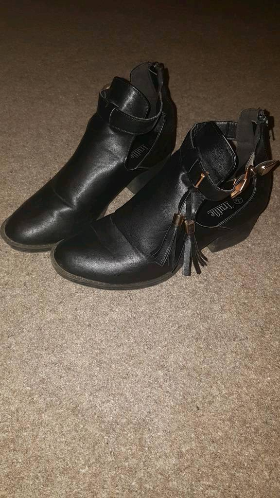 Black boots for sale women's UK 6