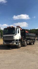 Daf 380 8 wheel grab lorry