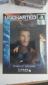 Nathan Drake - Uncharted - Titans Vinyl Figure - 4.5'' Exclusive - Mint in Box - Smoke Free Home