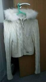 Mckenzie cream hooded jacket
