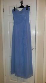Periwinkle Blue Chiffon Bridesmaid/Prom Dress