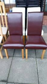Dinning chairs set of two matching