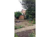 Plot of Land-Suitable for garden or allotment. Includes large shed. Approx 220 sq ft-Quality soil