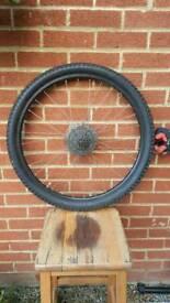 Rear Bike wheel with disk breaks