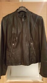 Next woman black leather jacket size 18