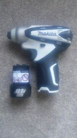 brand new makita impact driver with 10.8 - 1.3AH Li-ion battery (REDUCED)