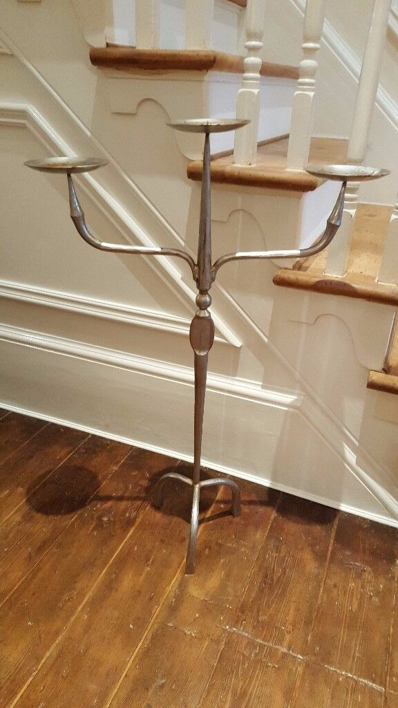 large floor standing candle holder, reclaimed from a church, heavy item