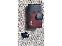 Leather purse (black and brown) - unused