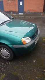 2000 ford fiesta zetec,11 monthes mot drives fine car wiil be avalible saturday.