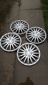 """14"""" silver wheel trims mint condition very bling silver"""