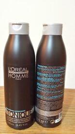 L'ORÉAL PROFESSIONNEL HOMME TONIQUE - REVITALISING SHAMPOO FOR NORMAL HAIR (250ML) x2 - Brand New