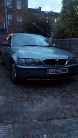 2002 Bmw 320 diesel tax and mot only 799