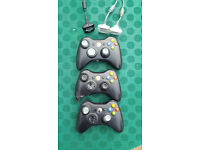 3 x xbox 360 controllers for spares/repairs