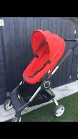 Red Stokke Pushchair