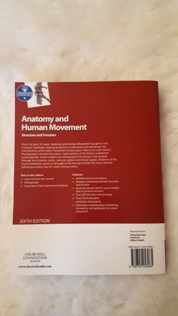 Anatomy And Human Movement Structure And Function 6th Ed In Ely