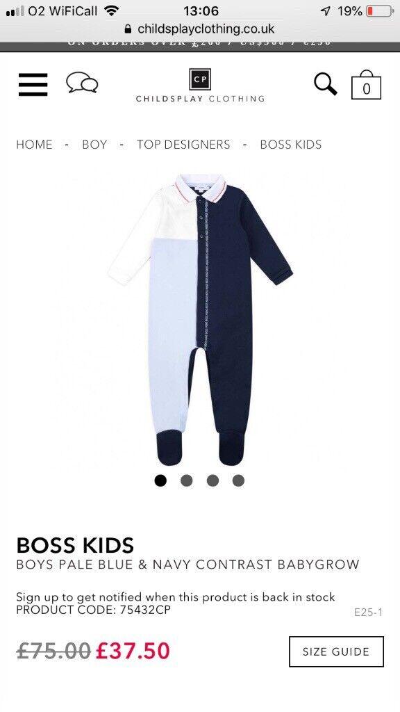 c0df6dc52db2f Baby boys Boss babygrow