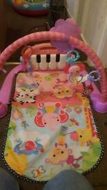 Playmat and bouncy chair