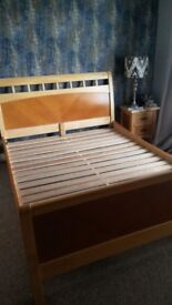 King size double bed. Solid wood. Excellent condition. I,m open to offers. See Photos