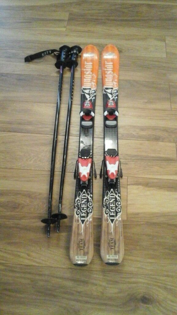 1200mm child skis and poles