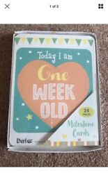 New sealed 24 unisex baby milestone cards. Baby shower or new baby gift