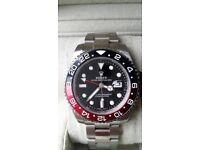 Rolex gmt master ii pepsi sapphire crystal glass ceramic bezal 2.5x date magnification waterproof
