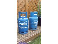 Blue calor gas bottle