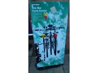 Cycle carrier for up to 3 bikes, c/w number plate bar