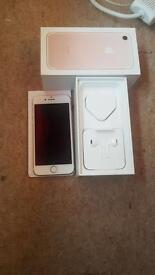 iPhone 7 on EE rose gold 128 gb mint condition like new