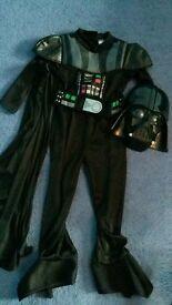 Darth Vader fancy dress costume 3-4 yrs