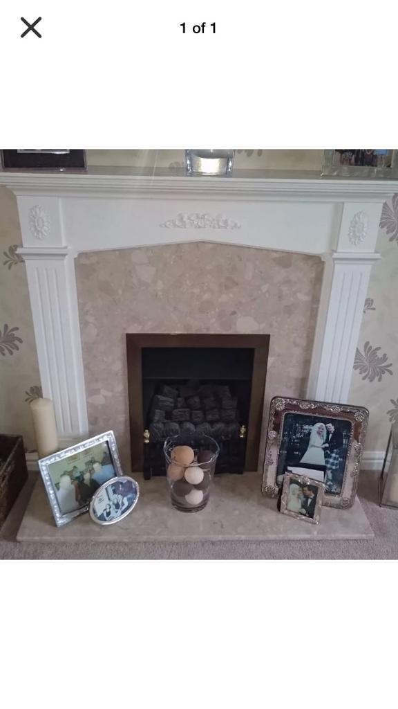 *SALE* Fire Place with real Wood Surround &