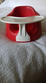 Bumbo Floor Seat with tray in red