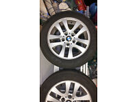 "4 x BMW 16"" alloys wheels with tyres"