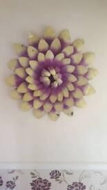 Large metal wall art flower