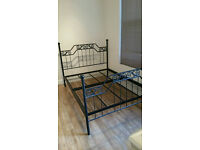 Stylish Modern Cast Iron King Size Bed Frame Only For Sale